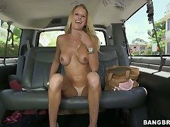Tall, tanned and busty titillating blonde babe Avona Dominica excites