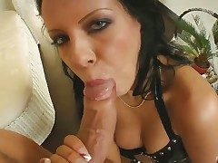 Sexy Chloe gives sucks ger guys cock dry with an increment of