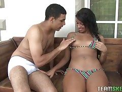 Susana Pino is a naughty ebony hottie who loves being boned hard. She is crippling