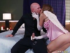 Johnny Sins gets pleasure immigrant going to bed