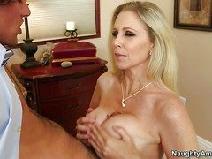 Alluring well-endowed milf Julia Ann take juicy aggravation is his
