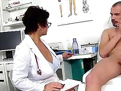Dirty czech milf Gabina is naughty doctor in cfnm activity