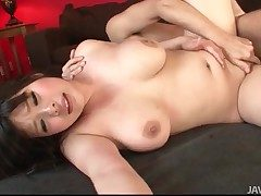 Curvy Japanese gal bounces beyond his hard cock